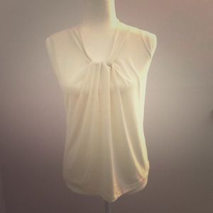 Talbots Off White Blouse with Knot Detail!